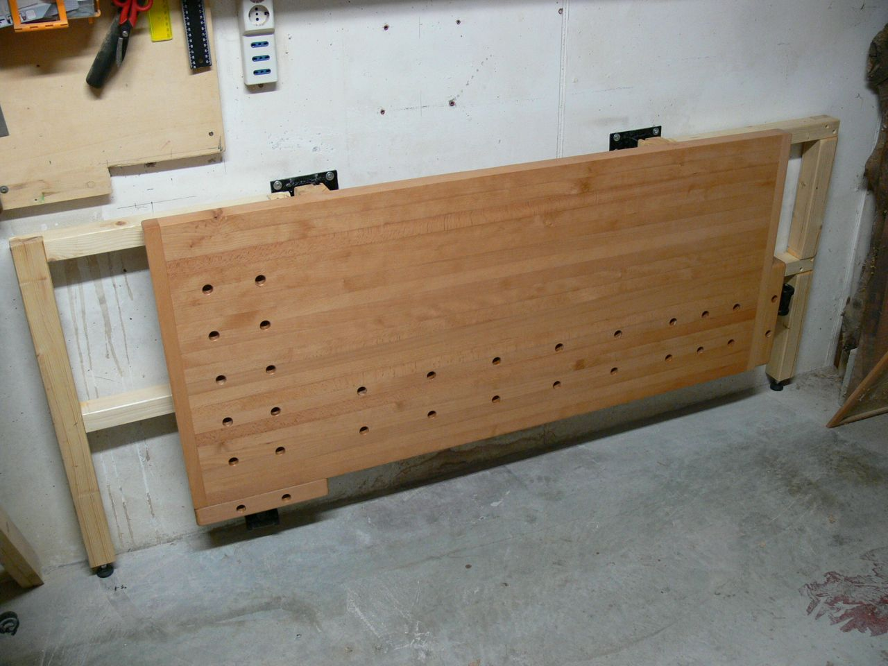 Tommy S Wall Mounted Folding Workbench Folding Workbench Workbench Woodworking Workbench