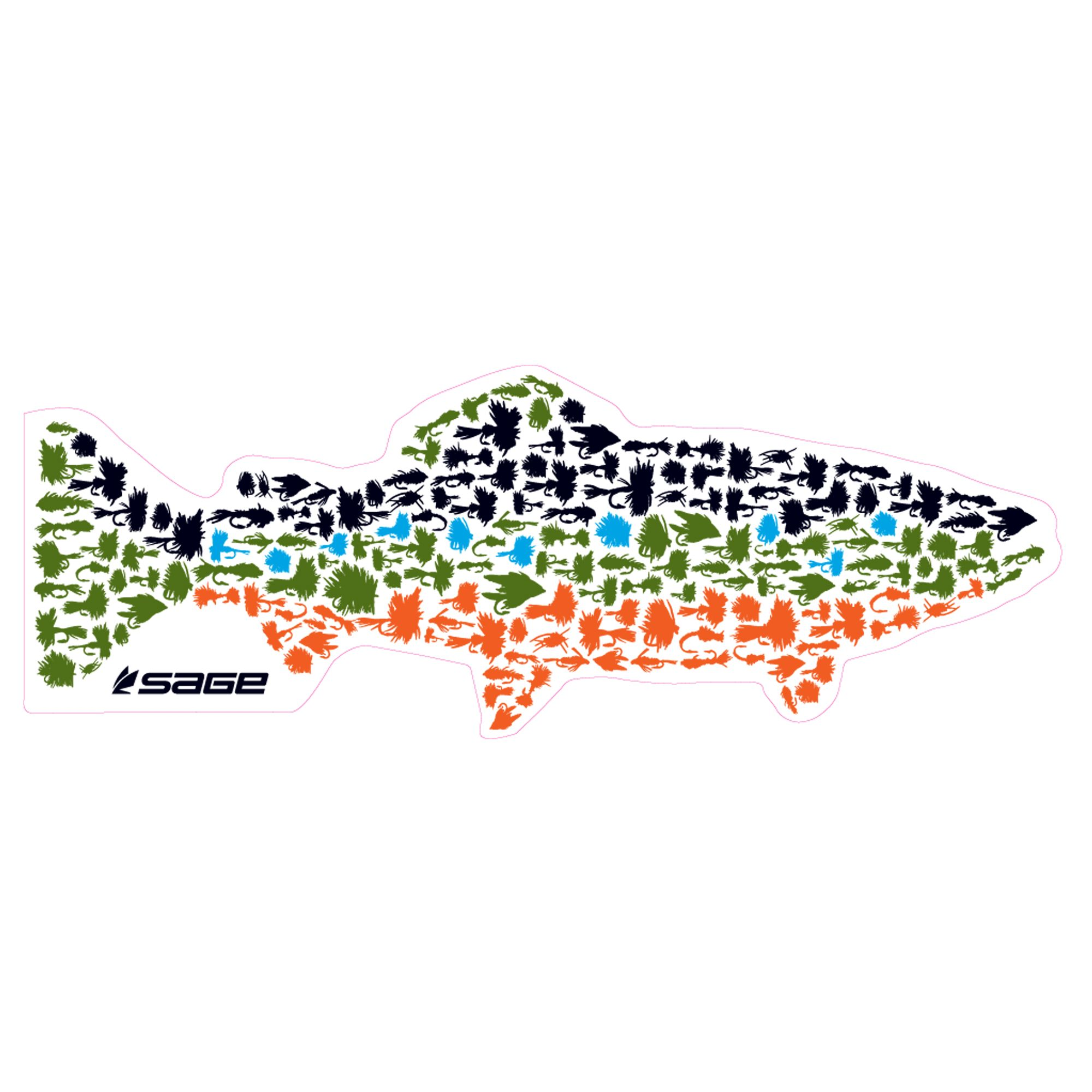 sage fish fly decal brook trout version too bad