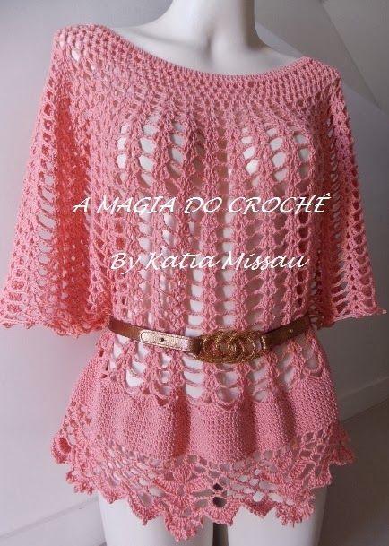 7e44614a3b Vim mostrar uma blusa em crochê que acabei de fazer. Composta por um belo decote  canoa