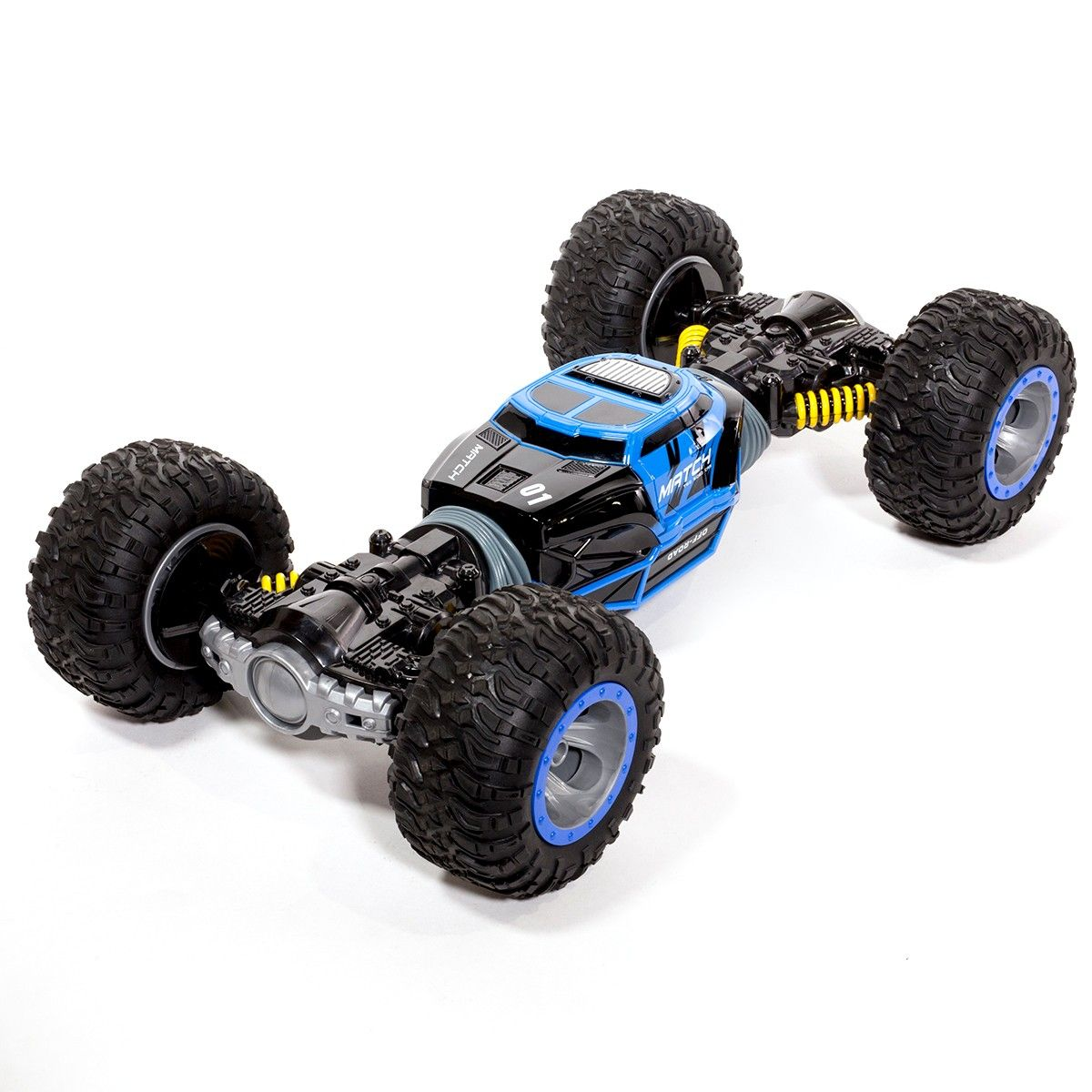 Ihubdeal Leopard King Double Sided Flip RC Stunt Car with