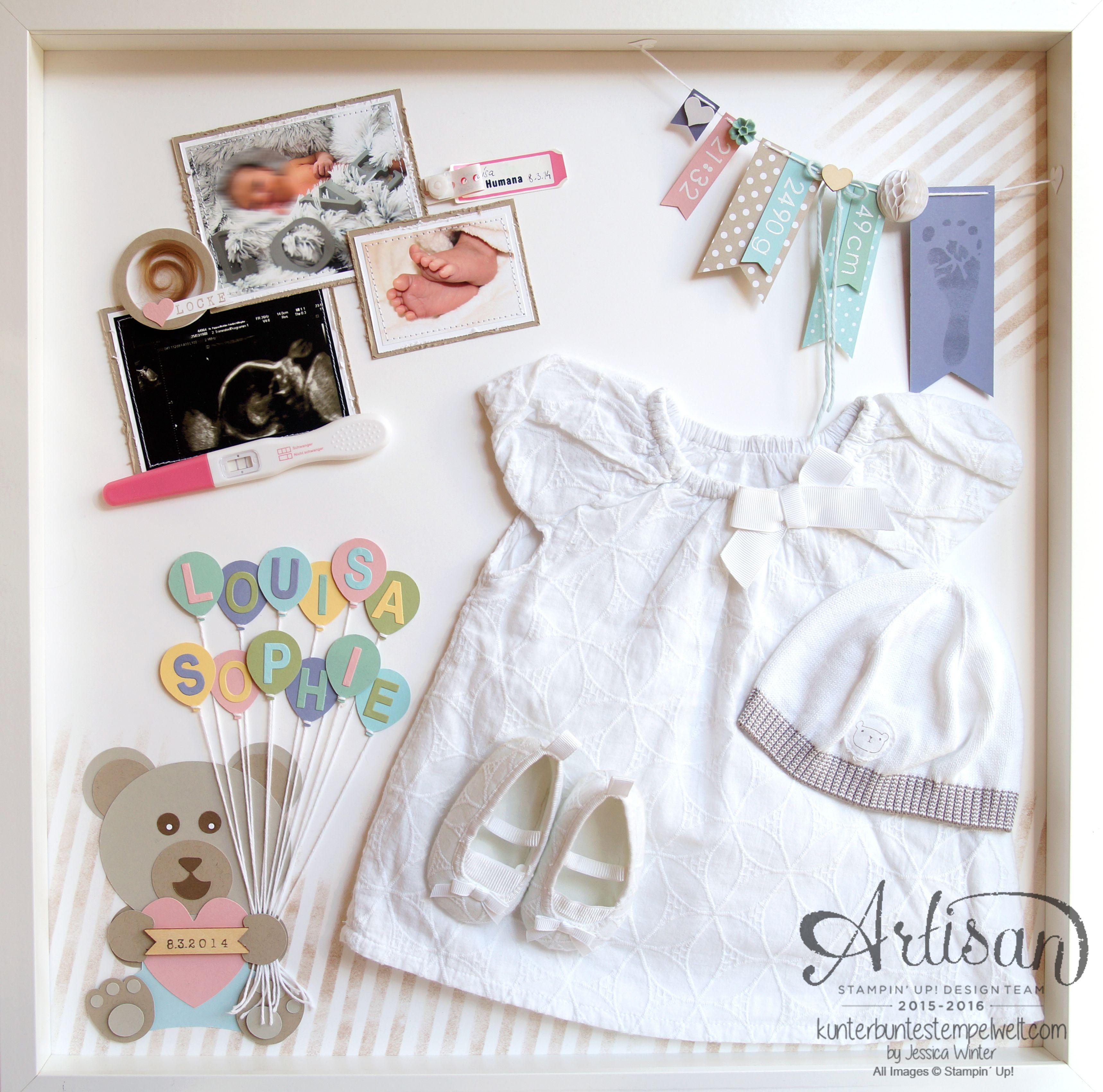 Stampin´ Up - Shadow Box - Baby Erinnerungsbild - erste Erinnerungen ...