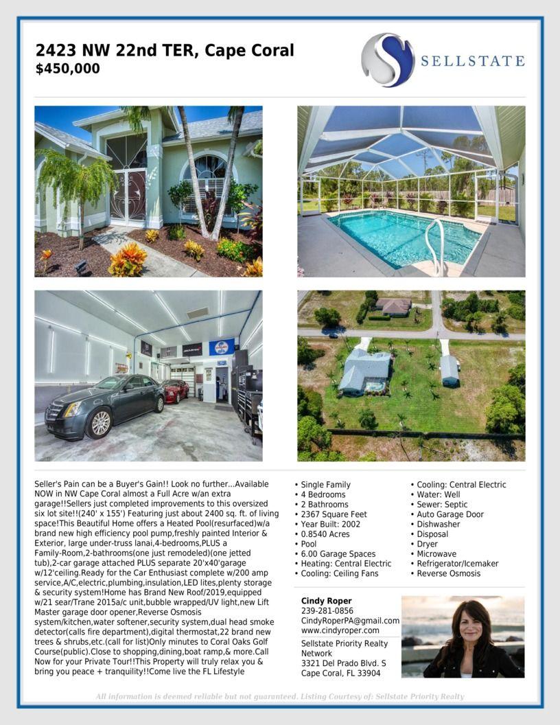 For SALE | Cape coral real estate, Cape coral, Acre