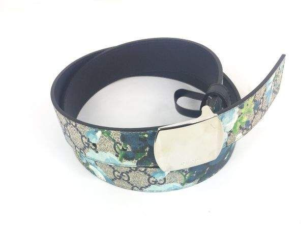 d52b74d6e91 Gucci Bloom Floral Belt Supreme GG Blue Brown Multicolor