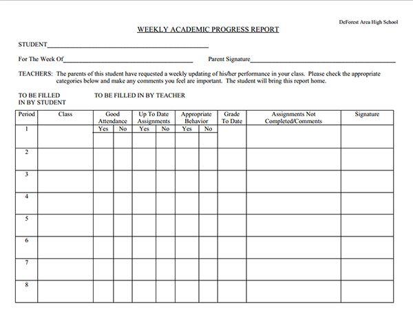 Progress Report Template template Pinterest - payroll spreadsheet template