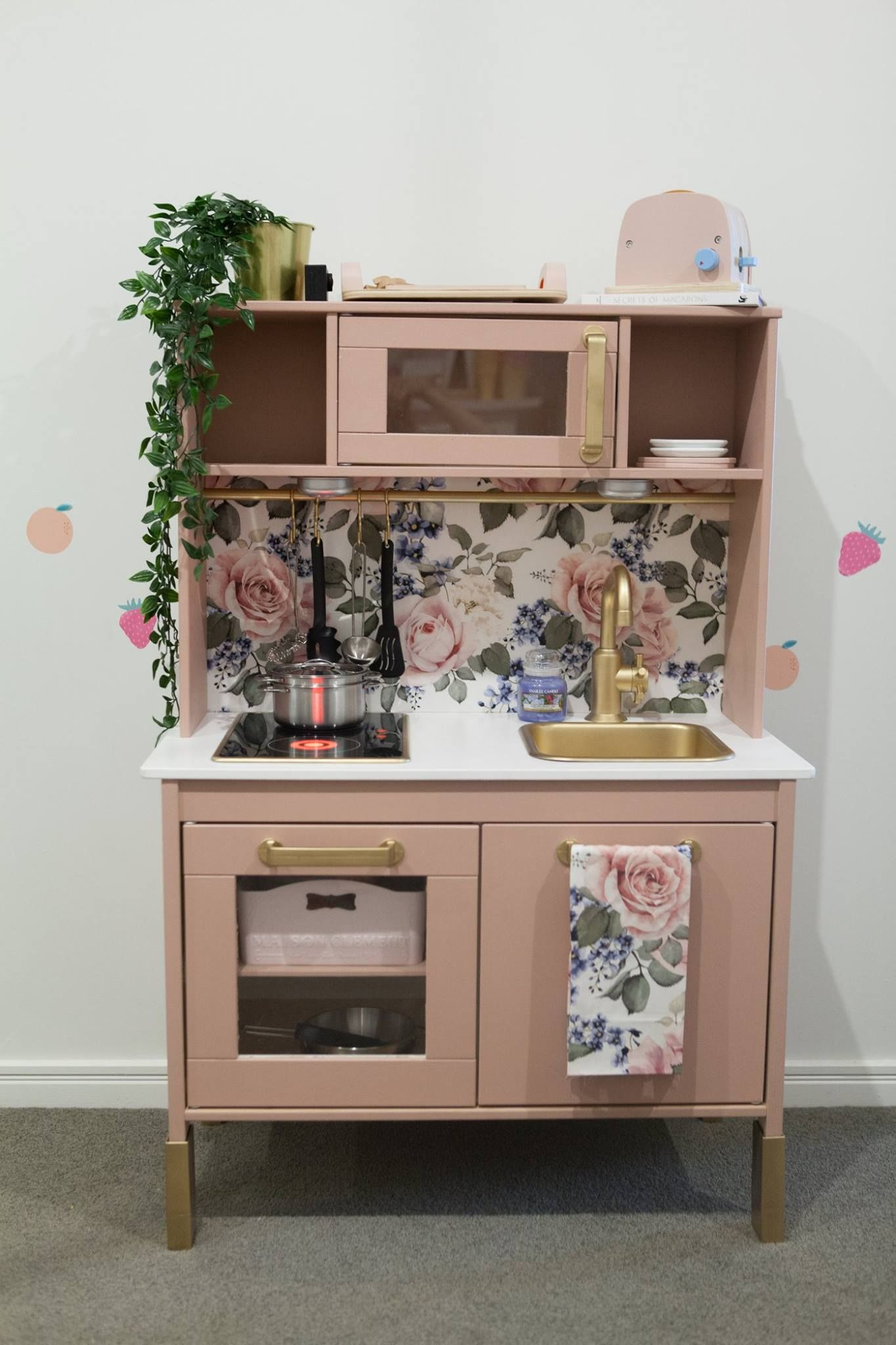 ikea kids play kitchen hack diy anna rose pinterest. Black Bedroom Furniture Sets. Home Design Ideas