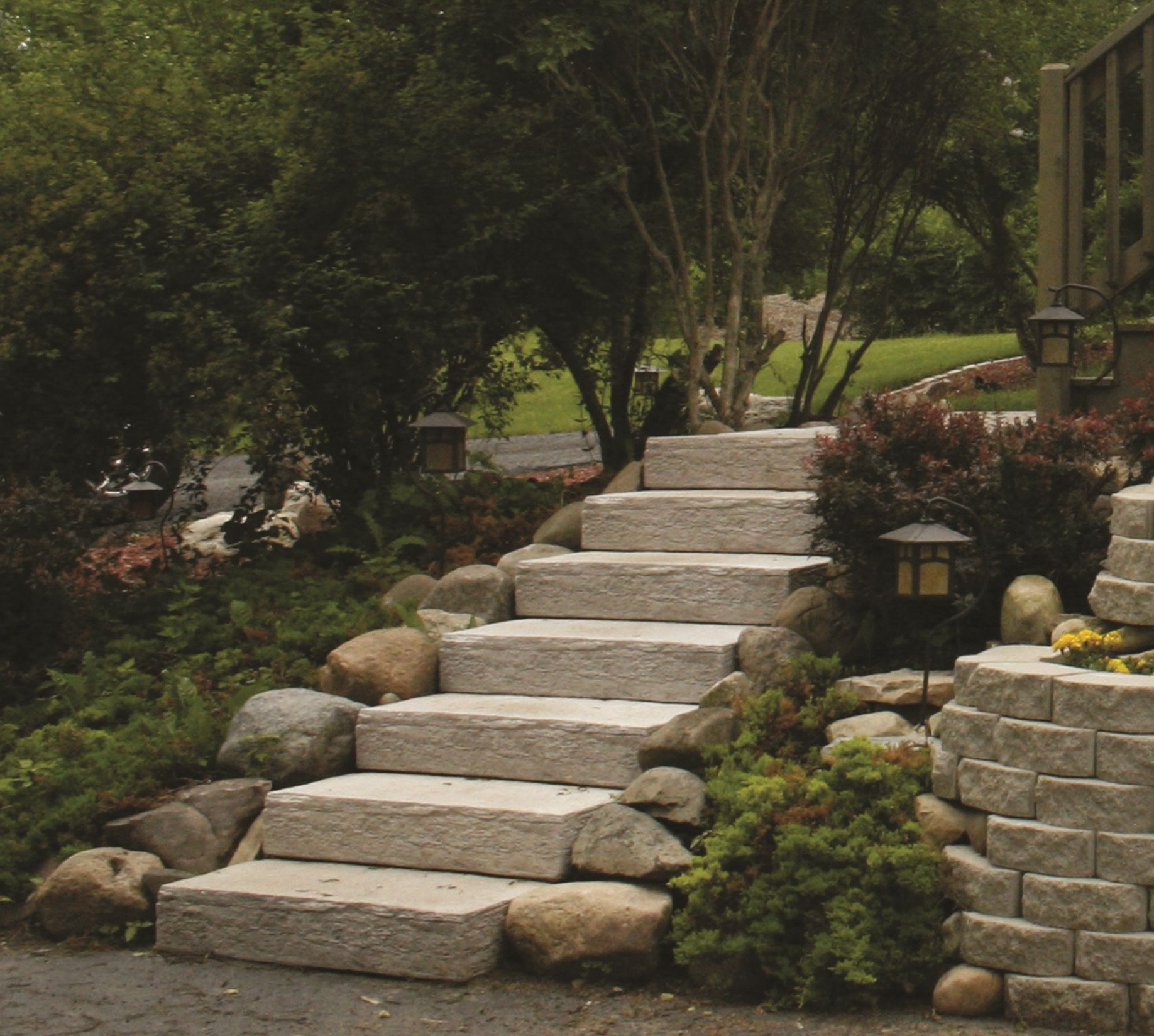 Rockstep Is The Smarter Alternative To Natural Stone Steps For The Backyard Landscaping With Large Rocks How To Build Steps Landscape Materials