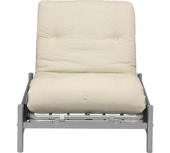 Buy Colourmatch Single Futon Sofa Bed W Mattress Cotton Cream