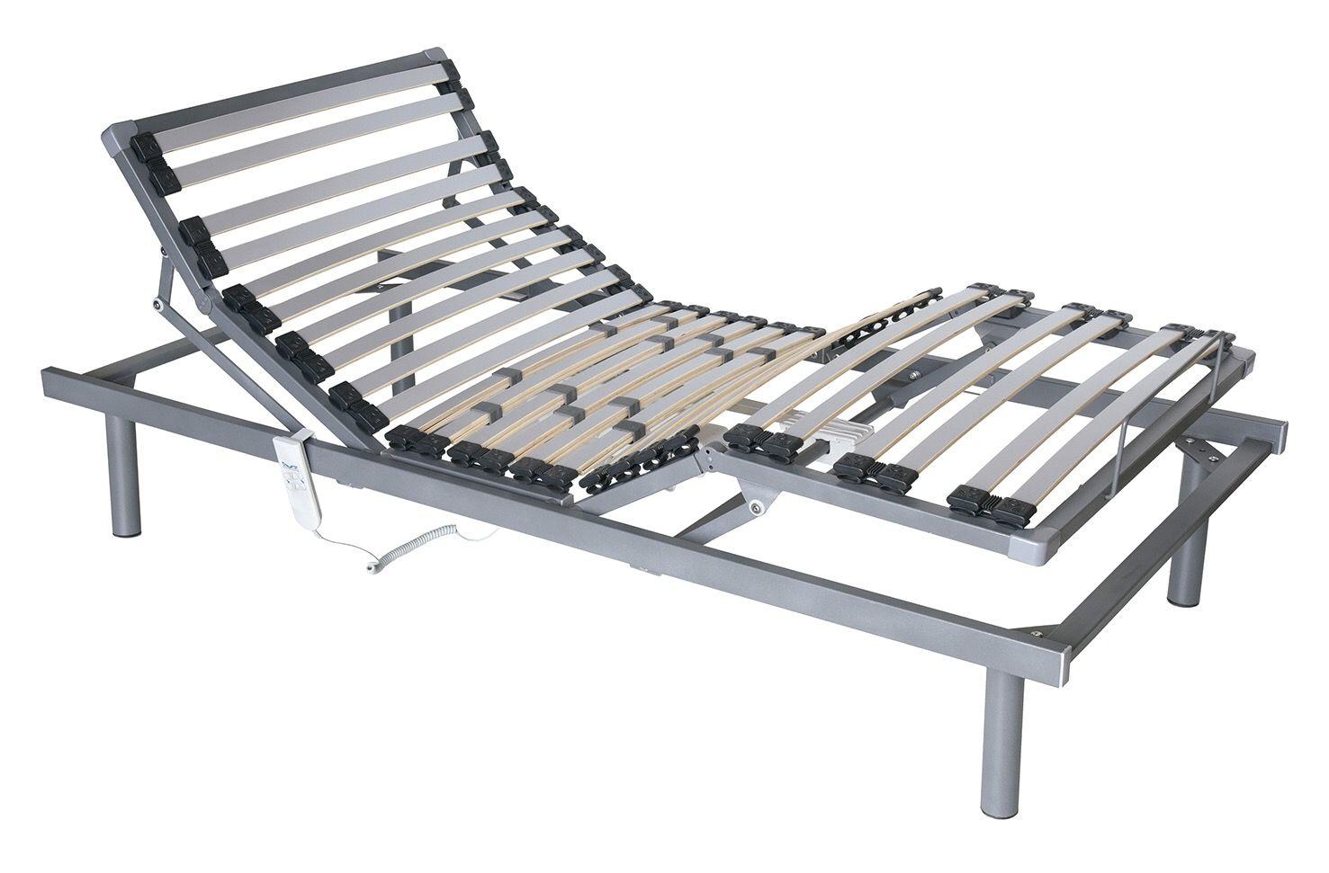 Somier motorizado con patas de 5 planos de 90x190 posibilidad de