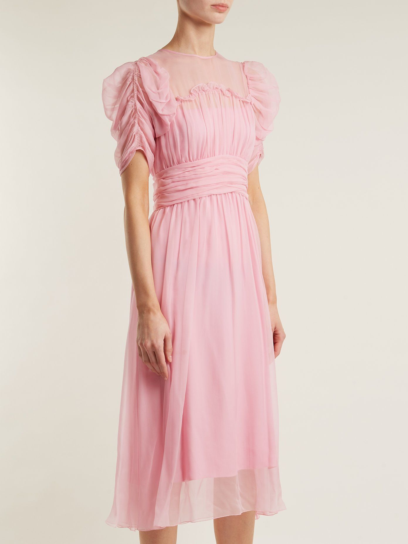 Gathered-sleeve silk-chiffon dress N</ototo></div>                                   <span></span>                               </div>             <div>                                     <div>                                             <div>                                                     <p>                                                           <small>                                 Buy direct SAVE! No Sales Tax to US Residents! FREE Priority shipping on US orders over $100!                             </small>                                                       </p>                                                 </div>                                         </div>                                     <div>                                             <div>                                                     <ul>                                                             <li>                                                               </li>                                                             <li>                                                                   <a href=