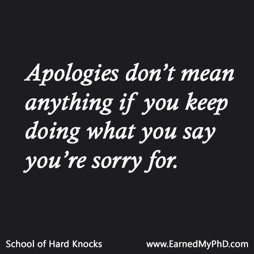 how to say you re sorry and mean it
