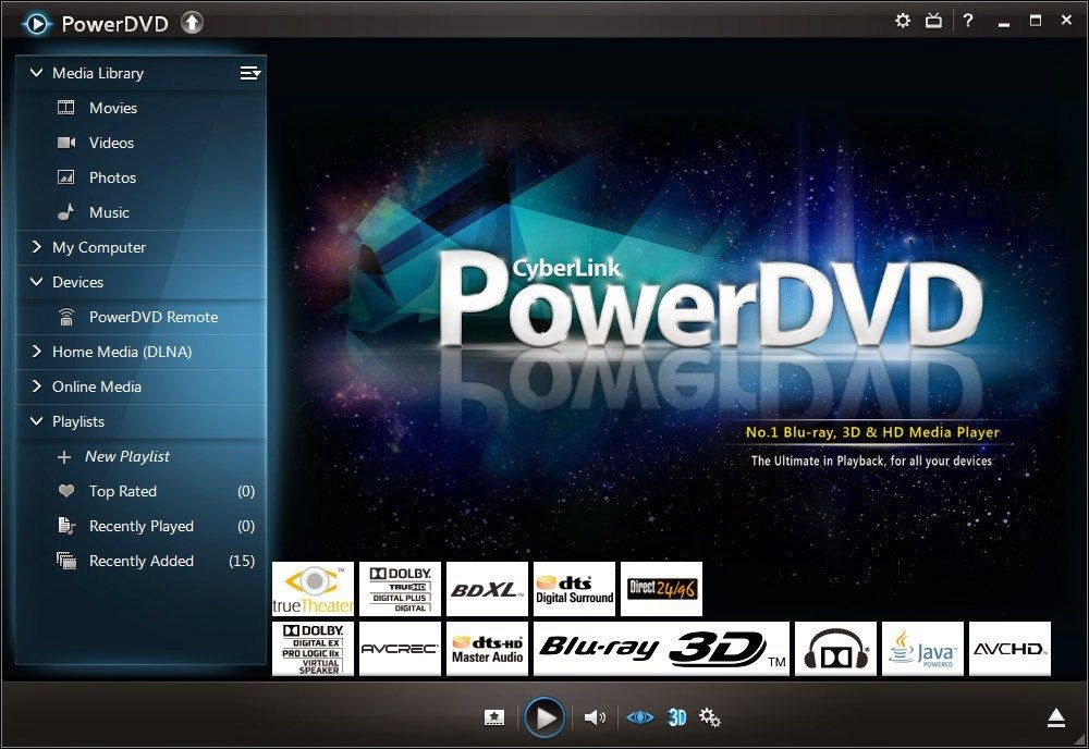 PowerDVD Screen Preview