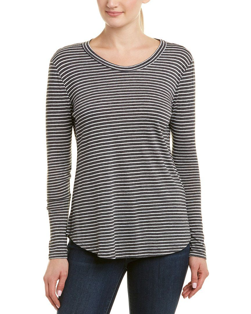 Color/Pattern: Charcoal And White Stripe Approximately 26In From Shoulder To Hem Measurement Was Taken From A Size Small And May Vary Slightly By Size Design Details: Open Back 63% Polyester, 19% Rayon, 18% Cotton Dry Clean Only Made In The Usa