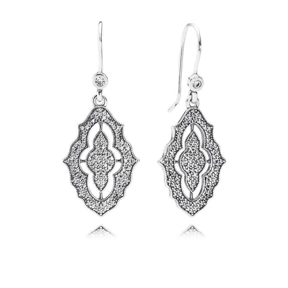 995d0d97e Sparkling Lace Drop Earrings, Clear CZ - 290563CZ | Wish List 2017 ...