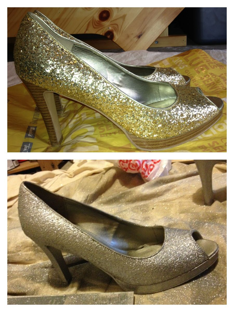 Can i spray paint shoes silver