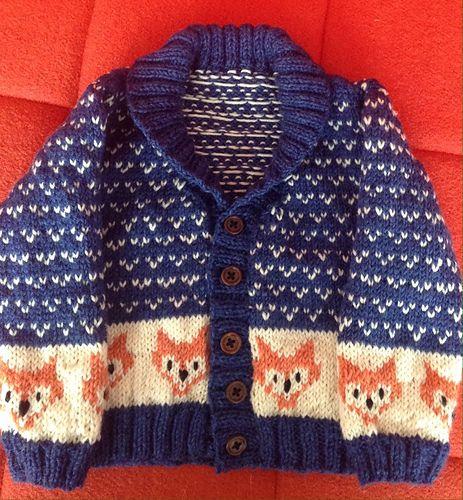 c635922c97b4 Ravelry  Arthur s foxy cardigan Knitting yarn is Rowan baby merino ...