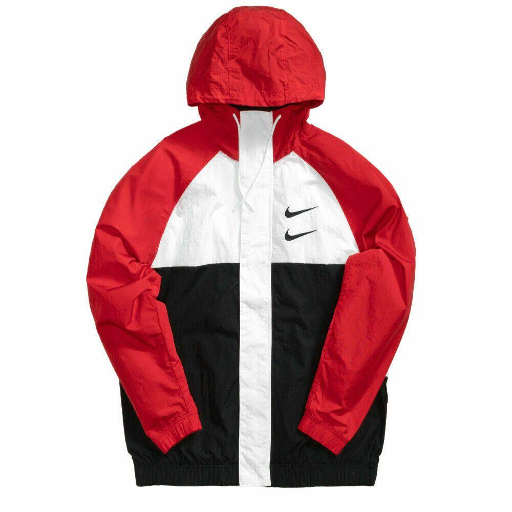 Nike NSW Swoosh Woven Logo Top Mens Jacket Black Size XXL