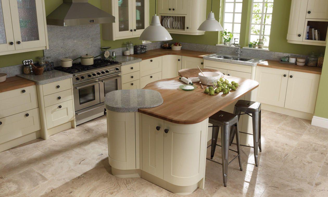 My absolute 100% dream kitchen! Shaker cabinet, round wooden handles ...