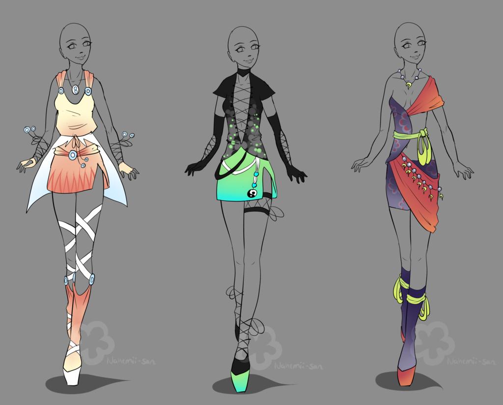 Outfit Adopts - sold by Nahemii-san.deviantart.com on @deviantART