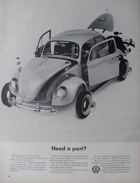 Vintage Vw Parts >> 1965 Volkswagen Vw Beetle Ad Need A Part Vw Parts Vw