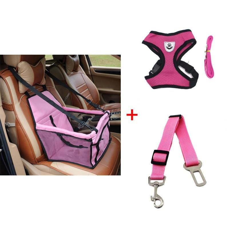 The Ultimate Safety Dog Car Package Booster Seat Belt Leash