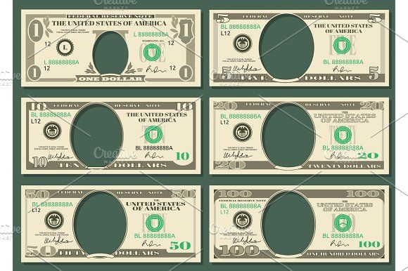 dollar currency notes vector money templates by microone on