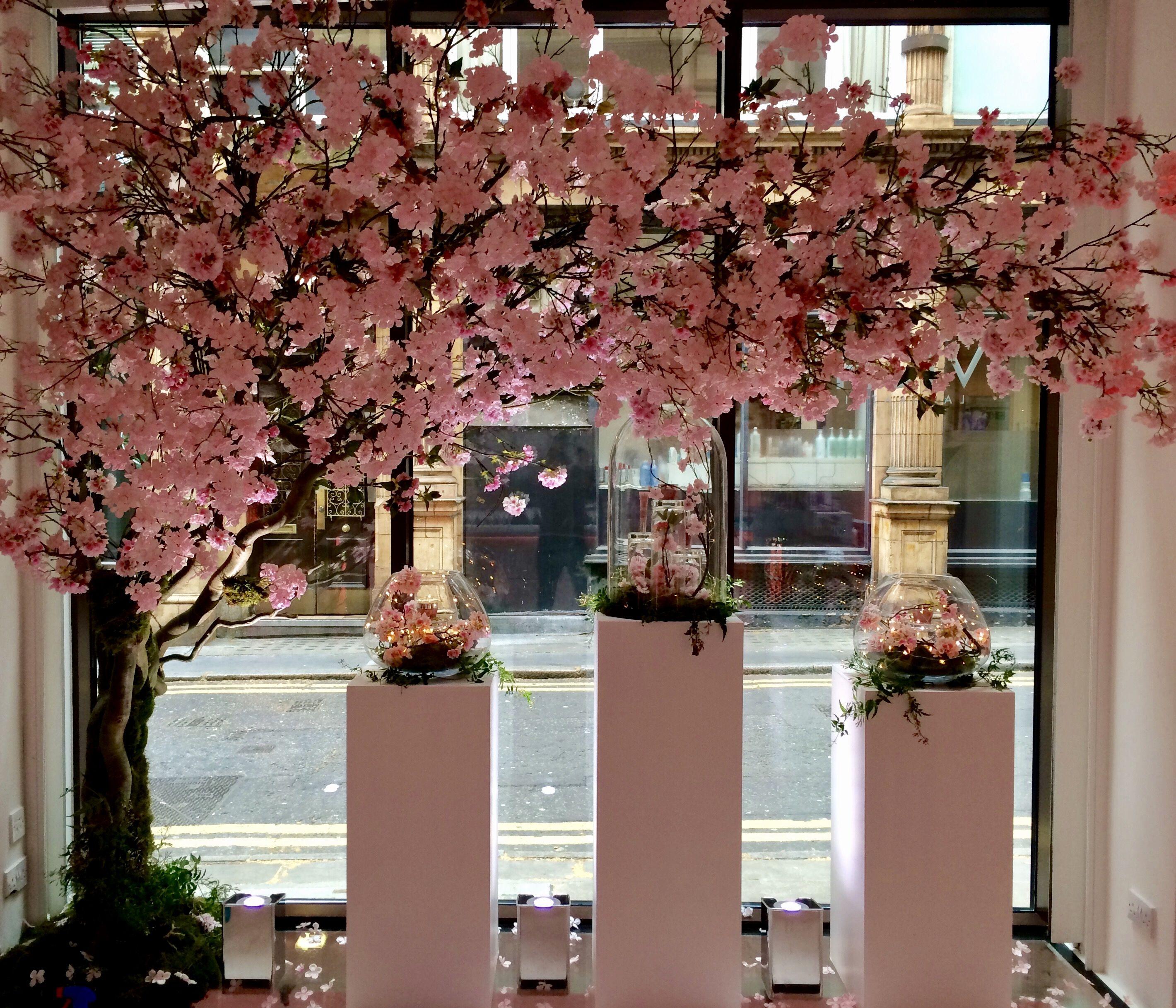 Cherry Blossom Window Display By Donaldo Radovich Spring Window Display Cherry Blossom Decor Spring Window