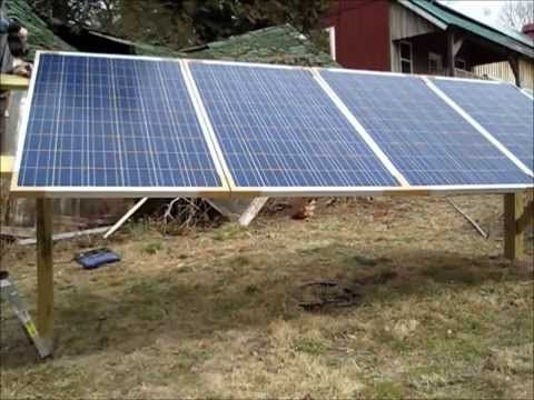Ground Mount Solar Panel Diy Youtube Diy Solar Panel Solar Panels Solar Panel Installation