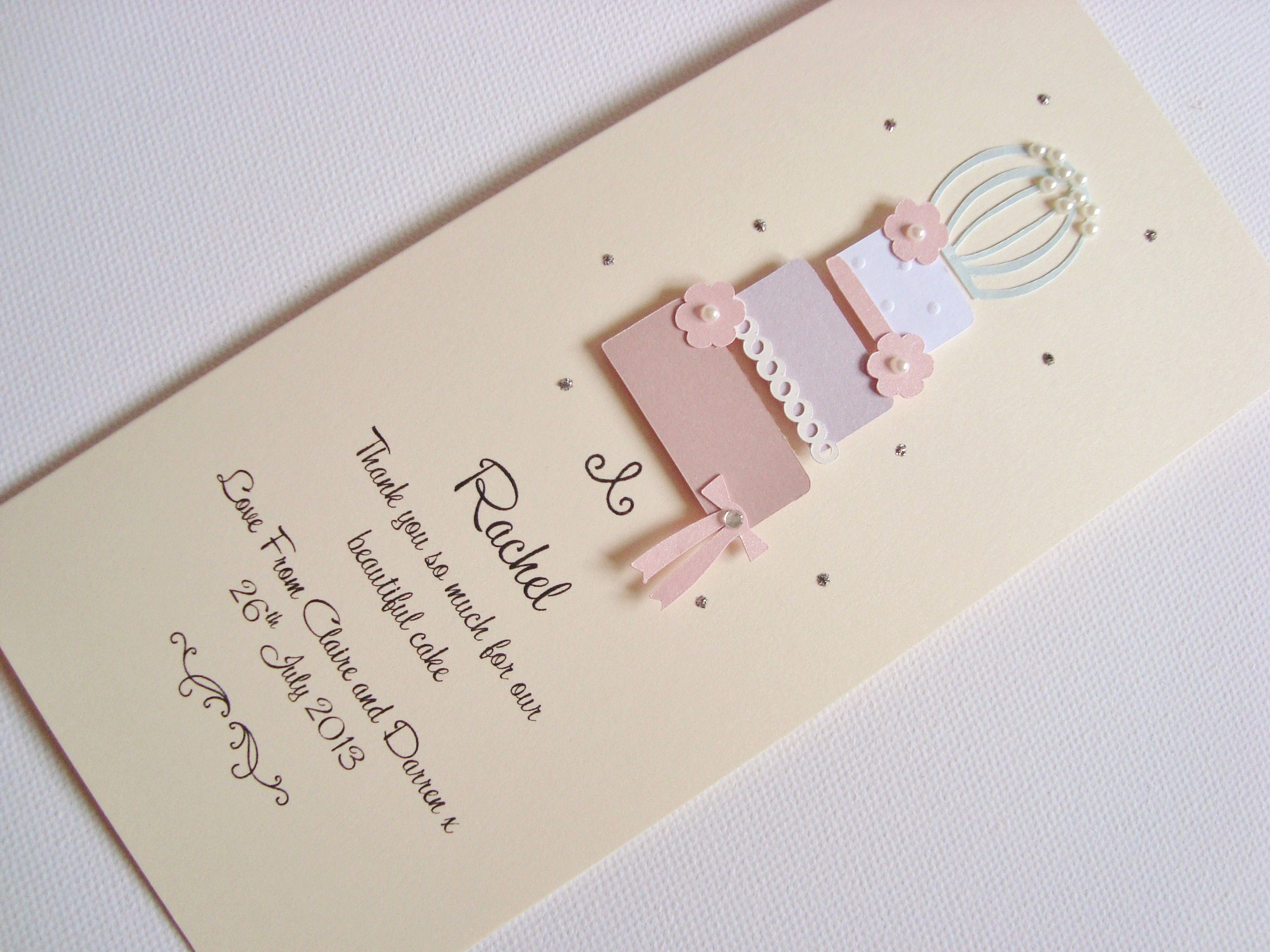 birdcage wedding invitation template%0A Birdcage Wedding Cake Thank You Card www ohsopurrfect co uk