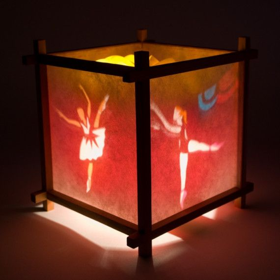 Girl S Bedside Lamp With Ballet Motif Spinning Children S Lamp Nite Light With Images Childrens Lamps Nite