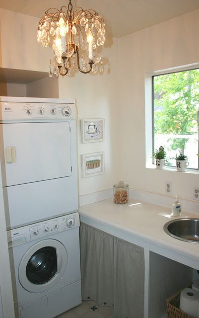 Old Town Home Renovation Very Small Laundry W Stainless Appliances