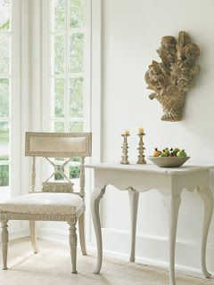 Swedish dutch and french styles combined chair in muslin antique sculpture on wall oushak rug design decorating before after also luv style gustavian rh pinterest