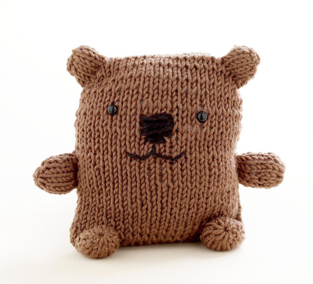 Loom Knit Bear- Martha Stewart for Lion Brand Yarn | cosas q me ...