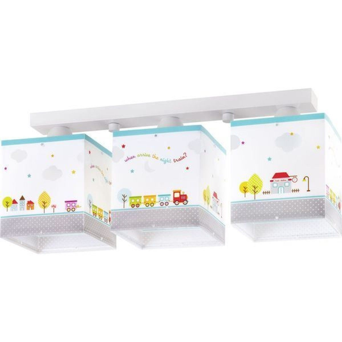 Night 65533 3 Lampes The Taille Train Dalber Enfant Plafonnier XiOPZlwkTu