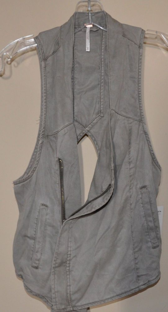 NWT Free People Sleeveless Vest Cutout Back Women's XS fawn brown  $78 #FreePeople #vest
