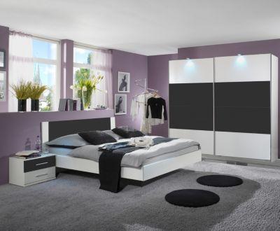Elegant Schlafzimmer Mit Bett 180 X 200 Cm Alpinweiss/ Anthrazit Jetzt Bestellen  Unter: Https: