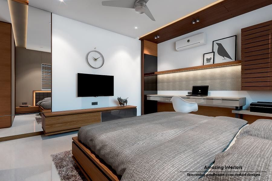 Bed Lcd Study With Images Bedroom Layouts Apartment Design