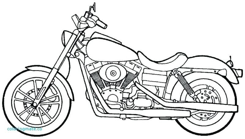 Free Printable Motorcycles Coloring Pages