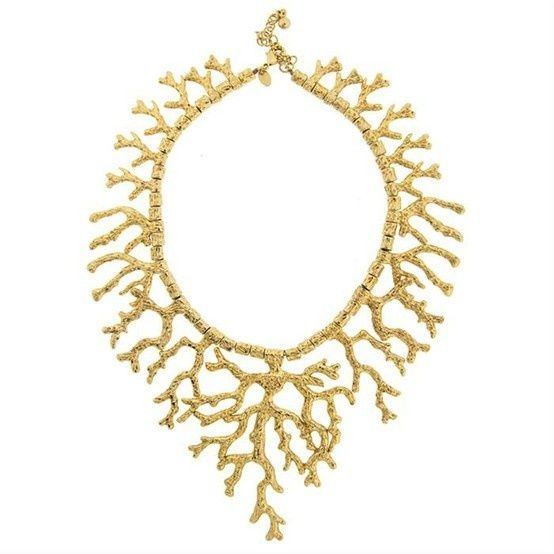 Gilded Coral Necklace #necklace #jewelry #gold #coral