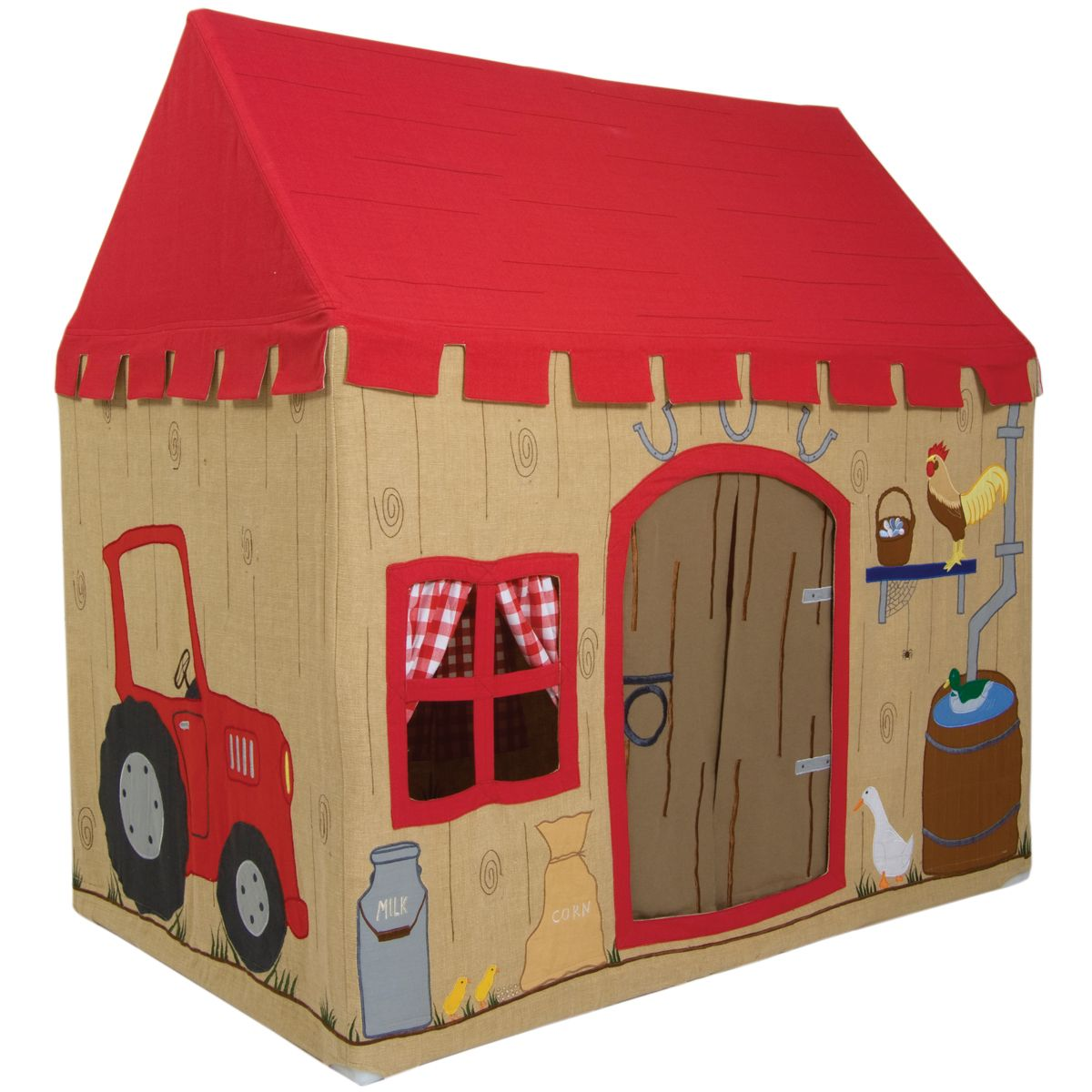 boys barn playhouse - fabric tent indoor playhouse for boys  sc 1 st  Pinterest & boys barn playhouse - fabric tent indoor playhouse for boys | Kid ...