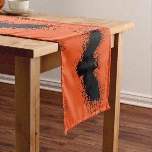Black halloween Owl Over Orange Medium Table Runner Halloween ideas - romantic halloween ideas