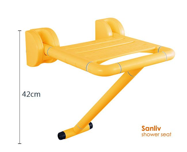 Wall Mount Folding Shower Seat With Leg For Elderly And Disabled Con Imagenes Organizacion Bano Organizacion Banos