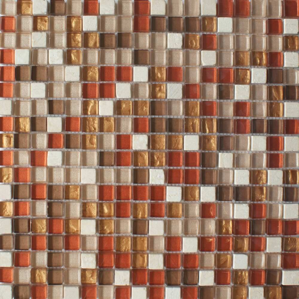 Gl Marble Copper Bronze Mosaic Tiles From The And Mosaics Range By Envy A Red Natural Stone