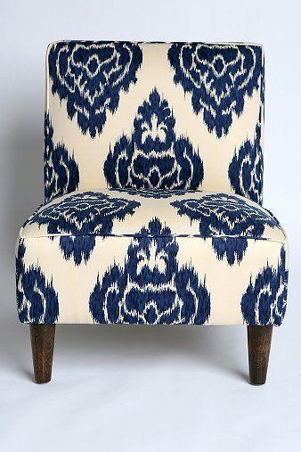 UrbanOutfitters Ikat Slipper Chair   Indigo