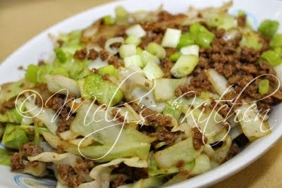 Mely S Kitchen Cabbage With Ground Beef Ground Beef And Cabbage Ground Beef Vegetable Recipes