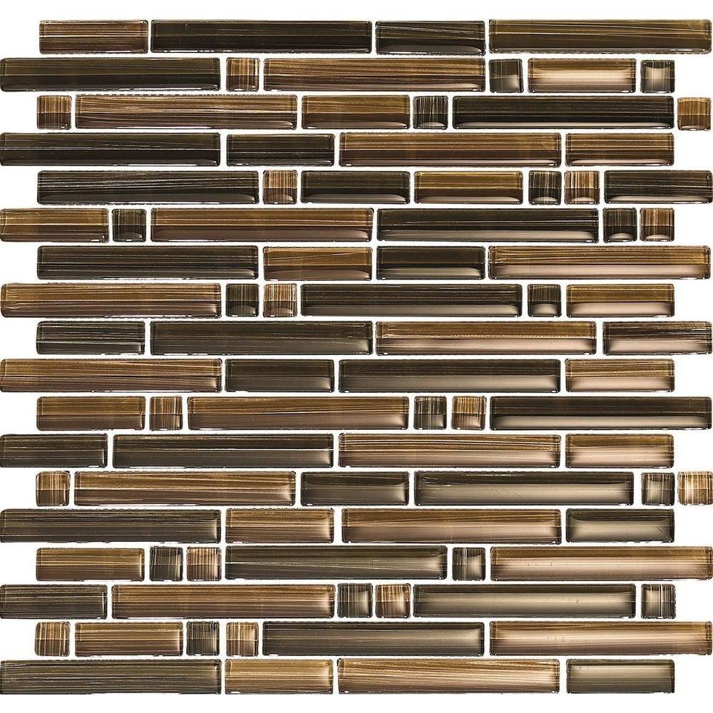 - The Brown And Bronze Tones Of This Gorgeous Glass Mosaic Tile Will