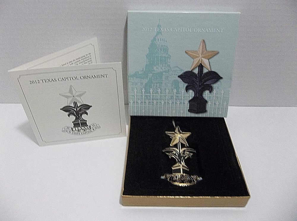 2012 TEXAS State CAPITOL Christmas Tree Ornament FENCE ...