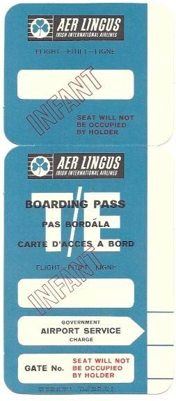 Aer Lingus Infant Boarding Pass Throwback Airline Ticket Jackets - fake airline ticket maker