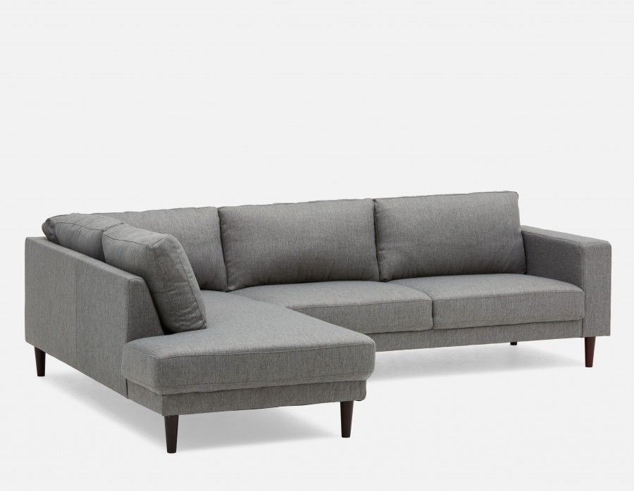 Campbell Grey Sectional Sofa Left Structube Modern Sofa Sectional Sectional Sofa Grey Sectional Sofa