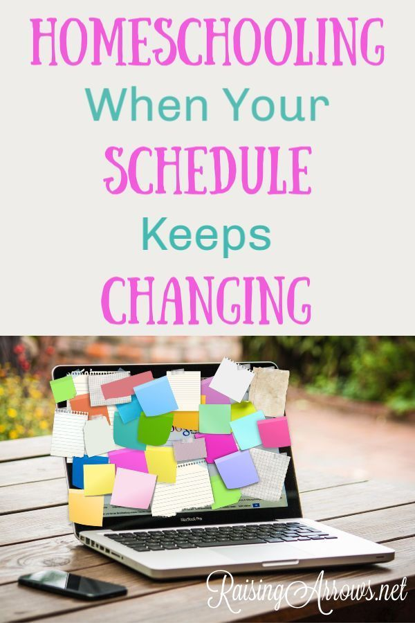 Homeschooling When Your Schedule Keeps Changing