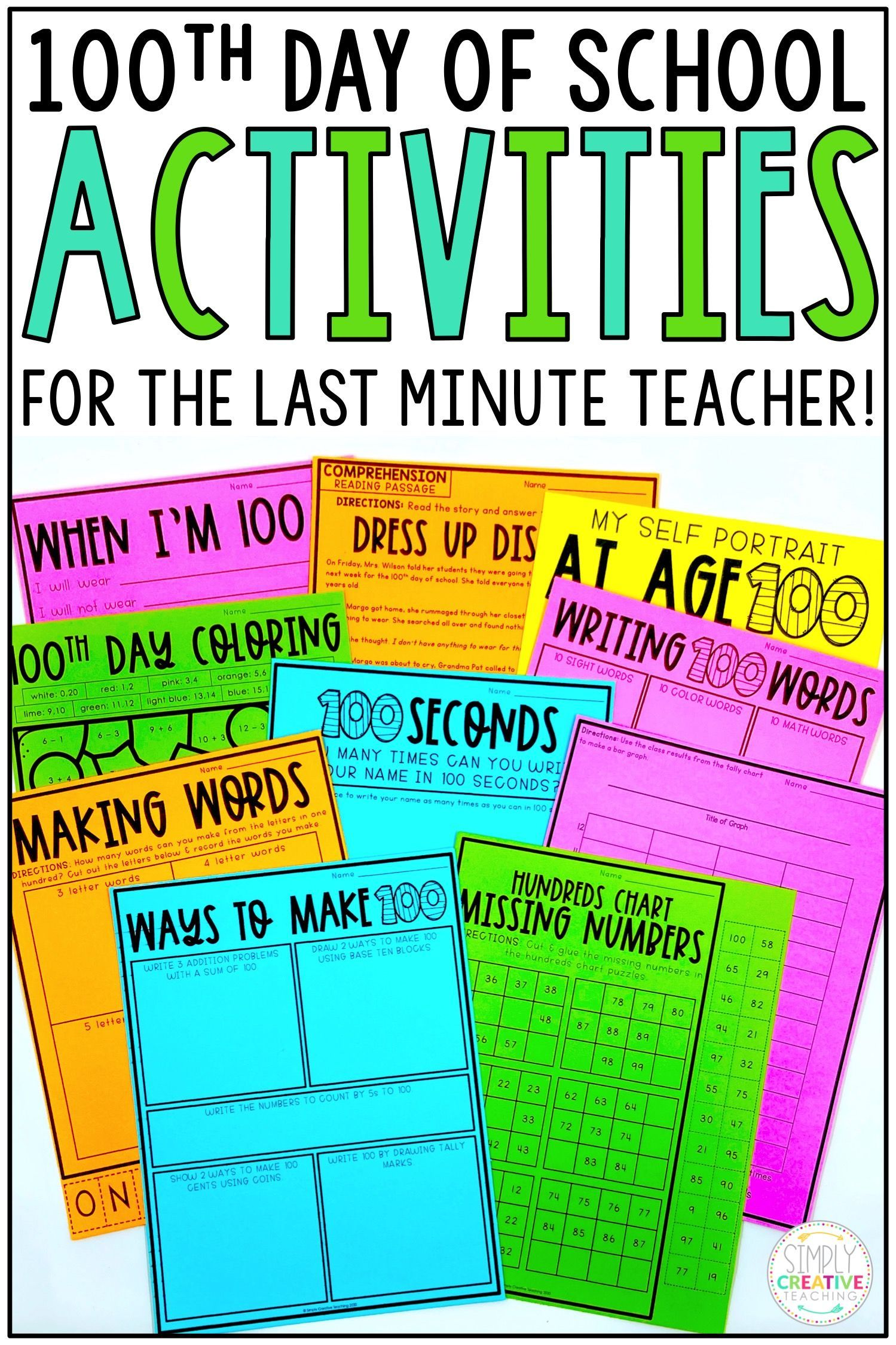 100th Day Of School Reading Amp Math Activities